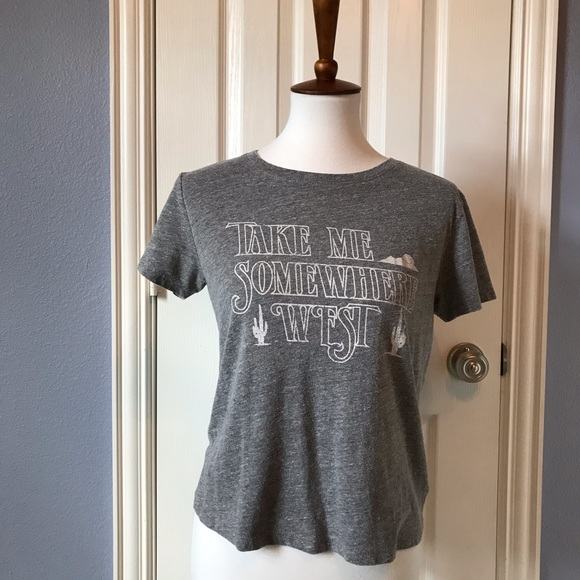 Urban Outfitters Tops - Urban Outfitters Grey Graphic Tee